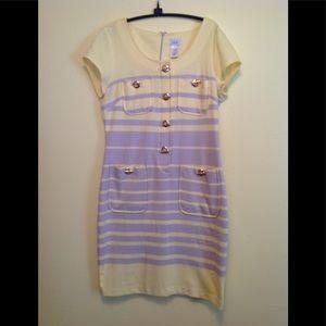 Yellow / gray cache dress